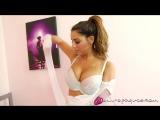 Charlotte Springer arias Charley S white lingerie pink nylons