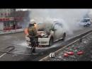 [Чита в курсе] Приехали без средств для тушения! Авария в Чите Сгорела машина в Чите