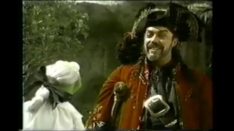Со съёмок Острова сокровищ маппетов (1996)