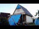 Часть 11. Каркасный дом 6 на 6 своими руками имитация бруса, слуховые окна
