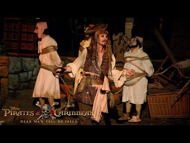 Johnny Depp Surprises Fans as Captain Jack Sparrow at Disneyland