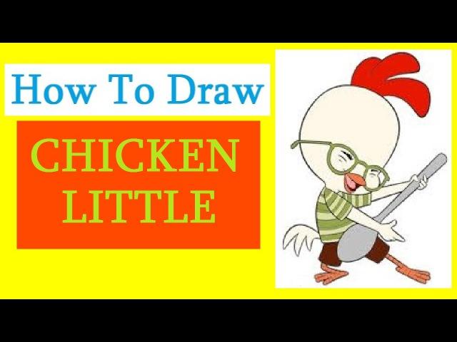 How to Draw a Chicken Little / Как нарисовать цыплёнка Цыпу
