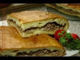 Пирог на кислом тесте с начинкой из свиного мяса - видео рецепт от GermaCook