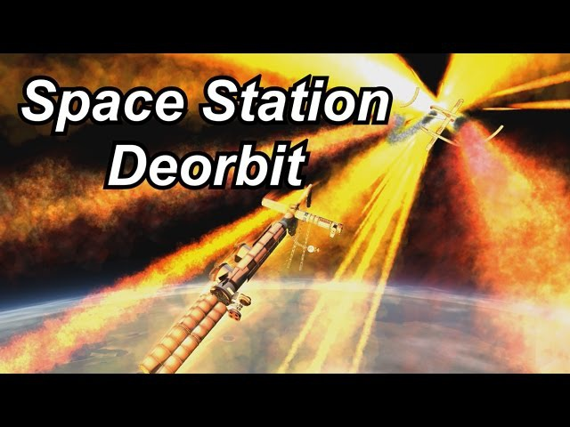 KSP - Huge Space Station Deorbit