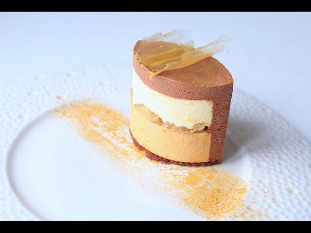 Муссовый торт Банан - Шоколадное Кремю Banana Mousse Cake - Chocolate Cream