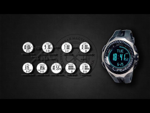 030.Spovan Mingo Outdoor Sports - часы для альпинистов, выживальщиков, рыбаков, охотников и т.д.