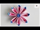 Kwiat ze wstążki 🌼kanzashi 🌼 jak wykonać🌼krok po kroku🌼87