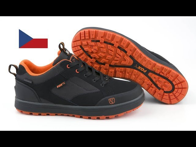 ***FOX CARP FISHING TV CZSK*** BLACK AND ORANGE TRAINERS