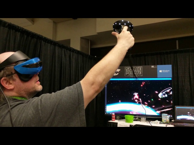 Skyworld and Space Pirate Trainer on Windows 10 Mixed Reality