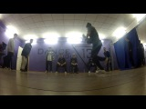 Almighty 13 (b-boy Mon from Refractory Gears &amp b-boy Rudy) Break dance battle Dance Studio 13