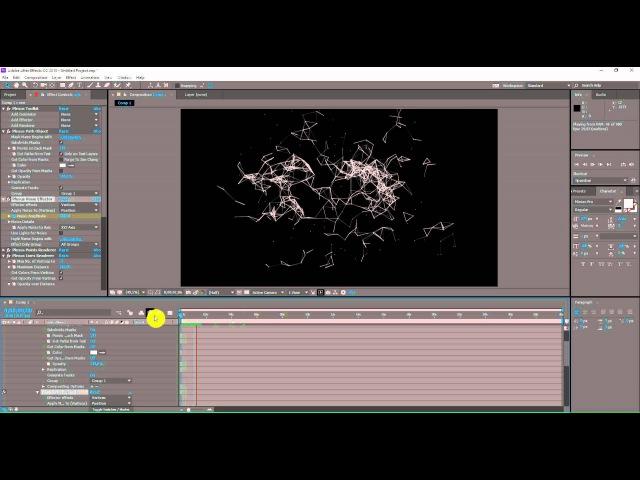 Урок титры в After Effects с помощью Plexus