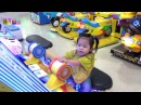 Indoor playground with Little Girl Go fishing, Farm Management, Hammer Head and Shooter Arcade Game