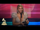 Beyonce accepting the GRAMMY for Best Female Pop Vocal Performance at the 52nd GRAMMY Awards