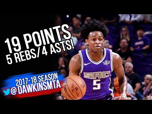 De'Aaron Fox Full Highlights 2017.10.23 at Suns - 19 Pts, 5 Rebs, 4 Assists, 3 Stls!