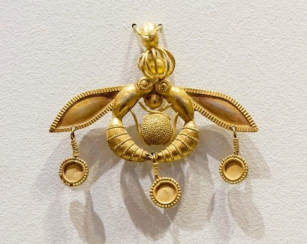 золотые минойские пчелы