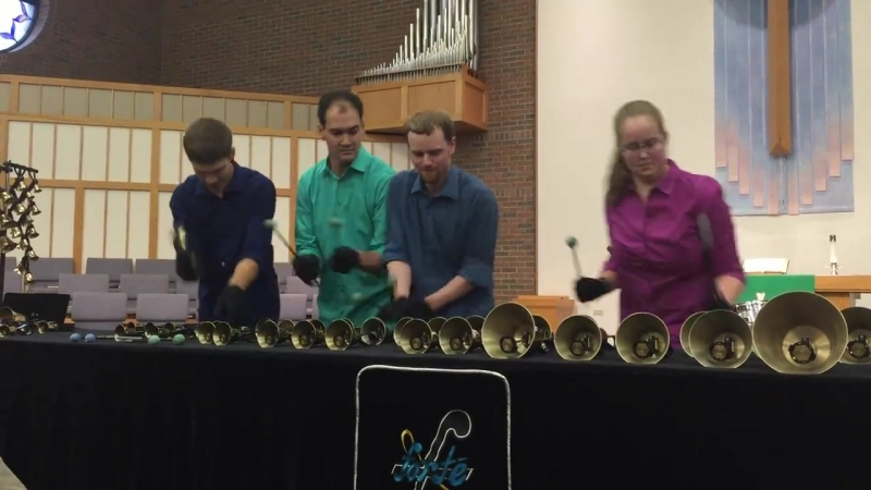 Sabre Dance as played by Forté Handbell Quartet (from Colorado Spings, CO) in Portage, MI. Their web site is