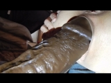 huge bam dildo gapping pussy