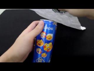 Фокус с исчезновением банки пепси