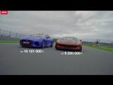 Chevrolet Corvette Z06 и Jaguar F-type SVR комментарий к тест-драйву. 720р