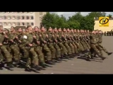 Репетиция роты почётного караула и пешей колонны к параду прошла в Минске