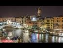 Таймлапс. Вечер в Венеции, Италия.