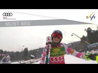 Mikaela Shiffrin 2st run SL WC Maribor