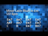 Albert King Style Minor Latin Blues Backing Track in Em - 120 Bpm