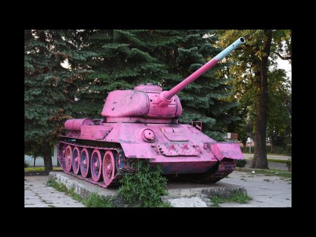 Фланговый обход на Т-34-85