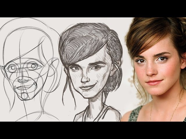 Emma Watson Caricature - Abstraction Critique