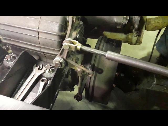 Работа ручника с пневмоприводом ГАЗ-66