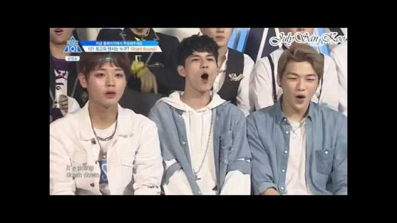Produce 101 Season2 Just Enjoy Flo Rida ♬ Right Round 주학년 홍은기 여환웅 변현민 김남형 유회승