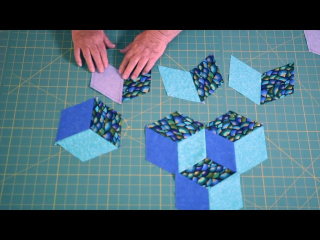Easy Tumbling Blocks Learn how to mark and sew tumbling blocks