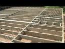 Строительство каркасного дома 8х10 м своими руками. Часть 2. Цокольное перекрытие