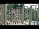 Строительство каркасного дома 8х10 м своими руками. Часть 3. Несущие стены 1 этажа