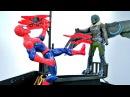 Видео для мальчиков СТЕРВЯТНИК поджег корабль ЧеловекПАУК 🔥 Игры супергерои