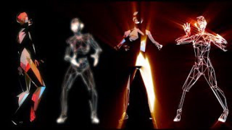 Funky Glowing Girl Dance Fast DJ VJ Music Event Party Club Background