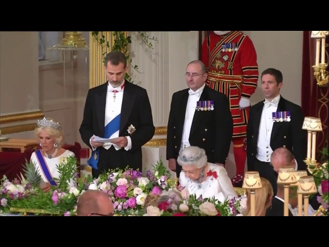 The Royal Family attend a State Banquet at Buckingham Palace of the Spanish State Visit