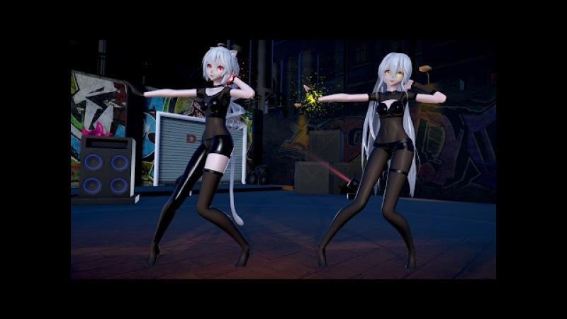 [MMD KARAOKE]1727 Sexy Miku Haku Hot Dance 30Sexy (Street)[DL][1080P,60FPS][RAY MMD]karaoke