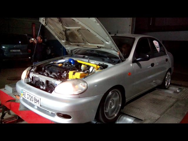 Daewoo Sens 2.0T dyno stend test - 430HP 605Nm