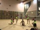 Групповое показательное выступление с мячом. Художественная гимнастика