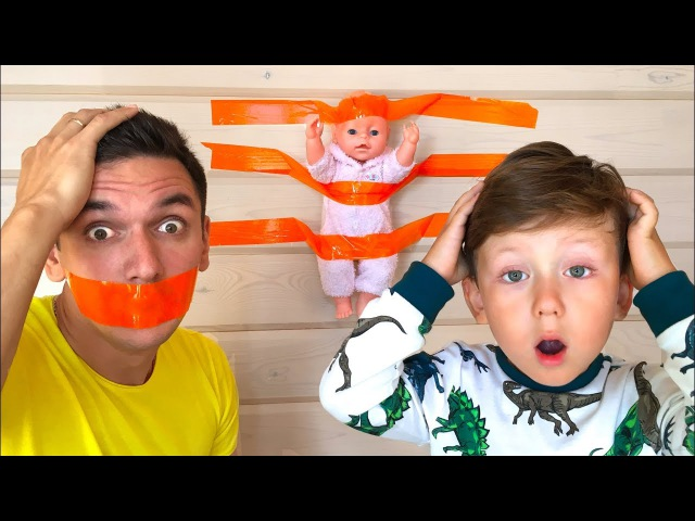 Bad Kid BABY DOLL Пранк над Папой Pranks Daddy in Real Life for Children