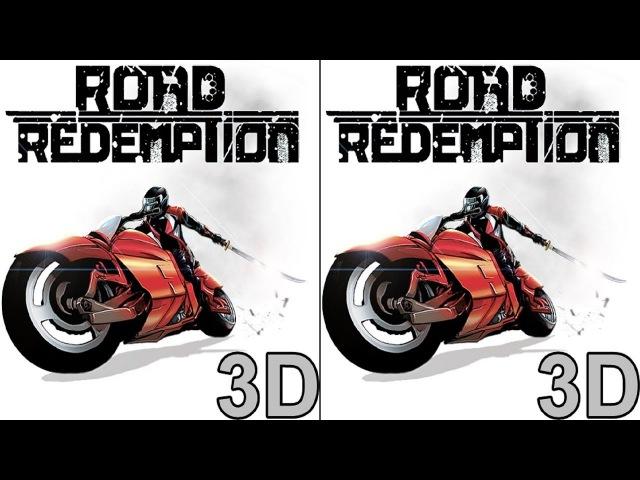 3D Road Redemption TV VR box video Side by Side SBS google cardboard