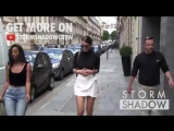 EXCLUSIVE - SO SWEET - BELLA HADID visits Dior HQ and walks to l Avenue restaurant in Paris