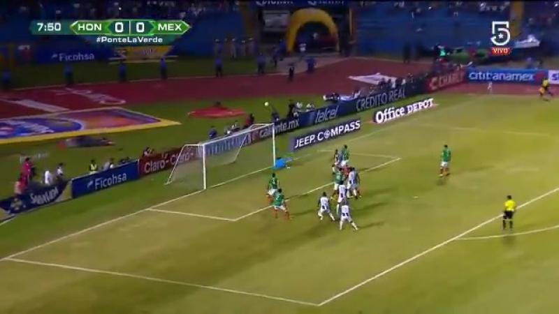 1T 08' HON 0-0 MEX ¡GIGANTESCA ATAJADA! ¡Enorme @yosoy8a! ¡La sacó del ángulo! PasiónyOrgullo