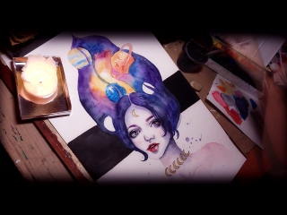 WATERCOLOR TIME LAPSE ||