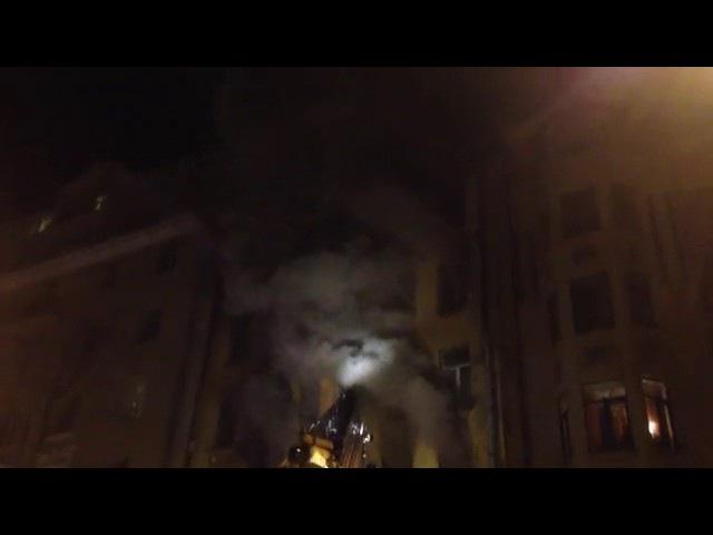 Пожар 08 мая на Большая разночинная в расселенном доме