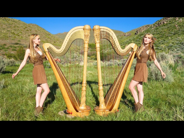 IRON MAIDEN - Run to the Hills (Harp Twins) Camille and Kennerly