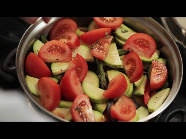 Запеченная индейка с овощным рагу многоярусным способом приготовления от эксперта Алексея Семенова