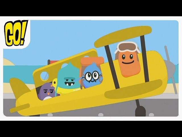 Dumb Ways JR Madcap's Plane Дам Вейс Самолёт Сумасброд обучающая Ролевая игра для Детей