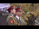 Serbia Russias Alexandrov Ensemble choir perform in Belgrade park renamed in their honour